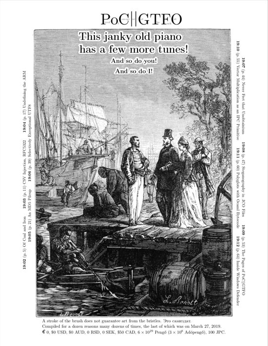 Issue 19 of PoC||GTFO posted